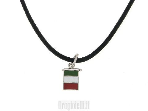Collana con bandiera dell'ITALIA