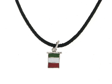Gold Jewells: Necklace Flag of Italy