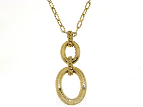 Collana oro donna con centrale pendente