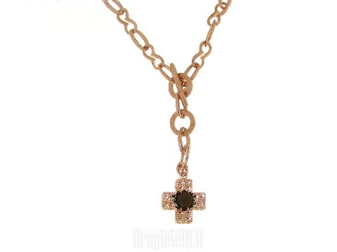 Gioielli Fashion Couture: Collana con croce in bronzo