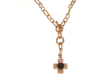 Gold Jewells: Cross necklace with bronze ROGGI Fashion Couture