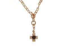 Collana con croce in bronzo ROGGI