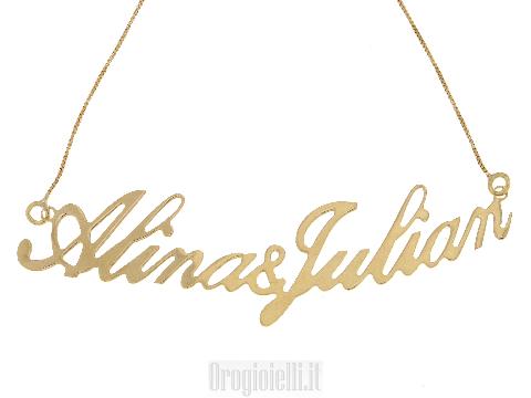 Collana con il nome in oro giallo