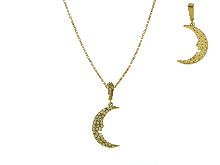 Gold Jewells: And cubic zirconia necklace with moon