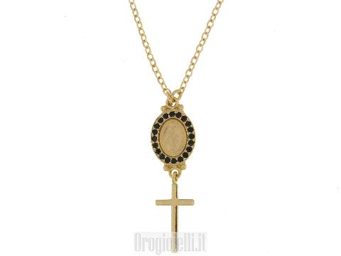Collana con madonna miracolosa in oro