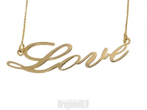 Collana con nome in oro 18 carati