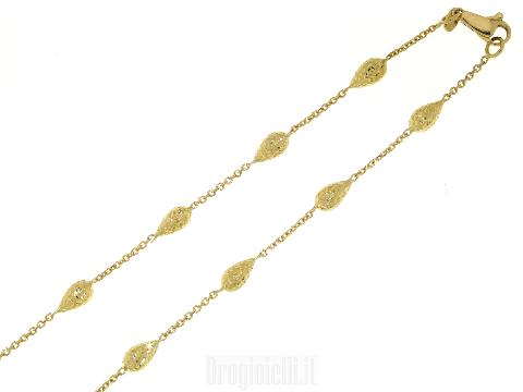 Collana con pepite in oro giallo