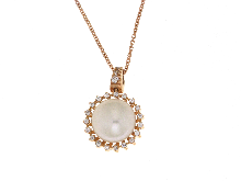 Gold Jewells: Pearl Necklace with 18kt red gold