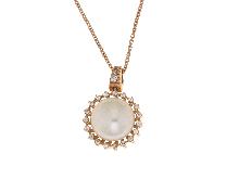 Collana con perla in oro rosso 18kt