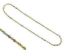 Collana con pietra colorate 18kt