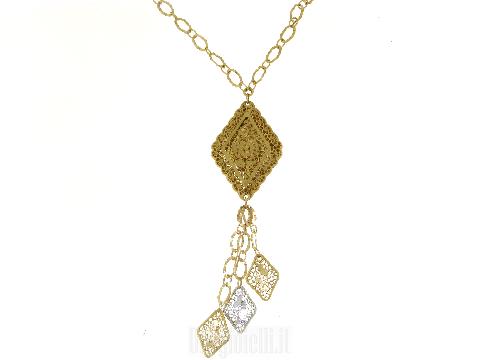 6b6aee3e8e3 Central diamond necklace NEONERO  Italian 18k Gold Chains