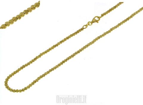 Collana con sfere in argento dorate