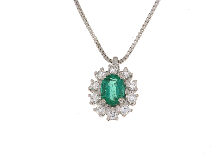 Gold Jewells: Emerald and diamond necklace