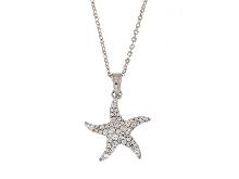 Collana con stella marina in oro 18ct