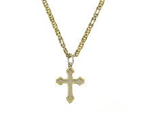 Collana e ciondolo a croce per battesimo