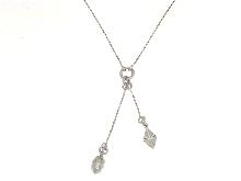 Collana in argento925 con ciuffo