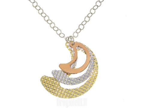 Collana in argento 925 con tre lune