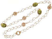 Collana lunga in bronzo ultima moda