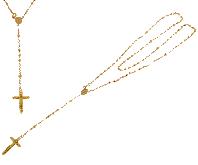 Collana rosario a preghiera in oro giallo 18kt