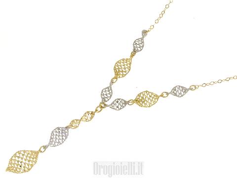 Collana scintille in oro