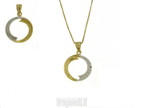 Collana semplice ed elegante in oro diamantato