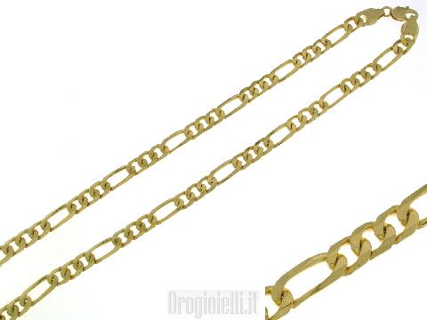 Collana uomo oro 18 kt (3+1)