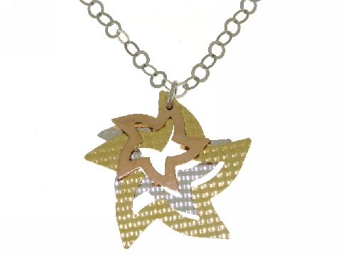 Collanina in argento con  stelle
