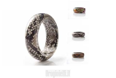 Bracciale rigido pelle di serpente Collezione DANG BI Antonella Piacenti