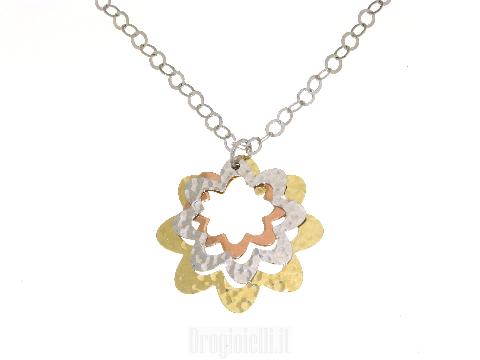 Collier in argento 925  in tre colori