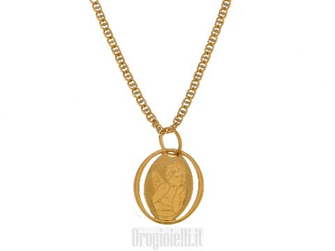 Completo per bambini (collana e medaglietta) alla prima comunione in oro 18 kt