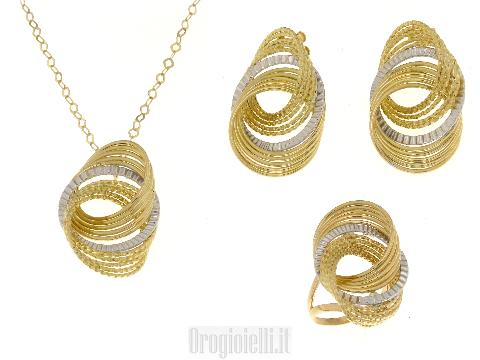 Completo per donna in oro 18 kt