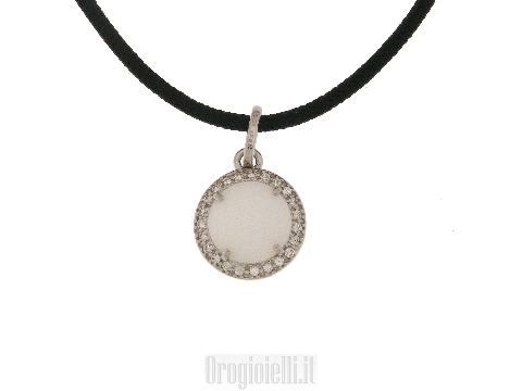 Cordina in argento e ciondolo con agata