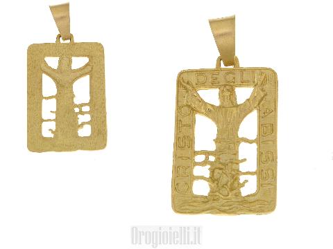 Pendenti un oro made in Italy Cristo degli Abissi di San Fruttuoso