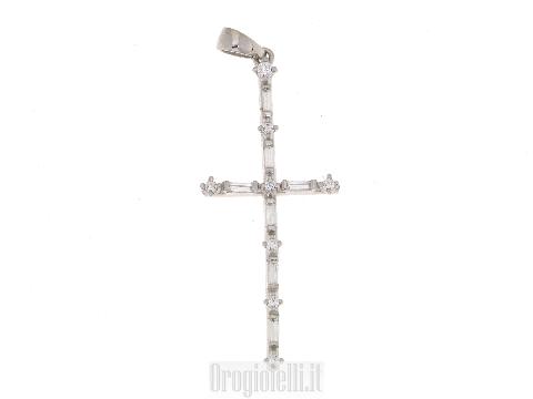 Croce FANTIN in oro bianco 18 kt