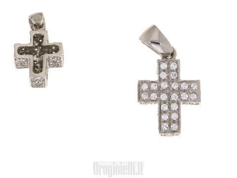 Croce Quadrata in oro bianco