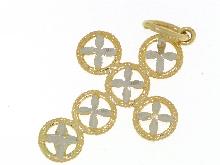 Croce bicolore diamantata