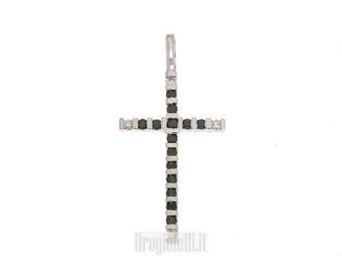 Croce con diamanti neri ultima moda