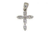 Gold Jewells: Cross with CZ