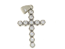 Gold Jewells: Cross with zirconia