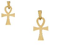 Croce della vita in oro giallo18 kt