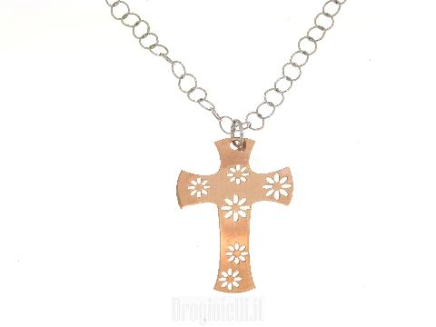 Croce in argento925 rosata
