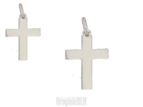 Croce in oro bianco 18 ct