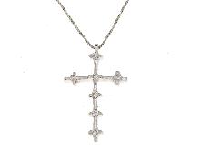 Croce in oro bianco 18ct e brillanti