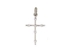 Croce in oro bianco e zirconi