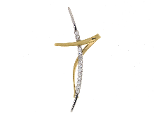 Croce in oro bicolore 18 carati