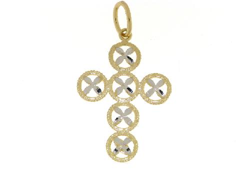 Croce in oro bicolore PVZ