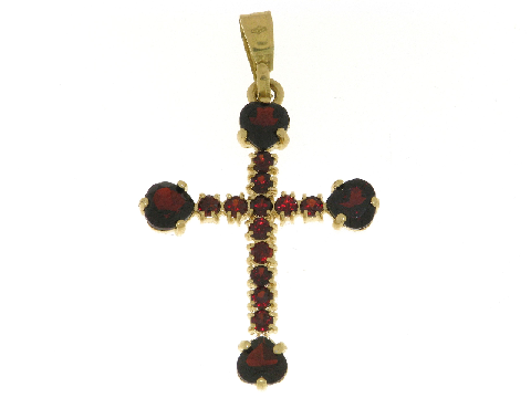 Croce oro e granato