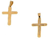 Gold Jewells: Italian 18k gold jewelry:  Cross for 18-karat gold chain