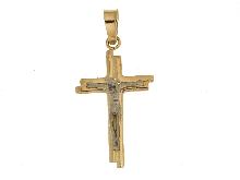 Crocifisso con cristo in oro bianco