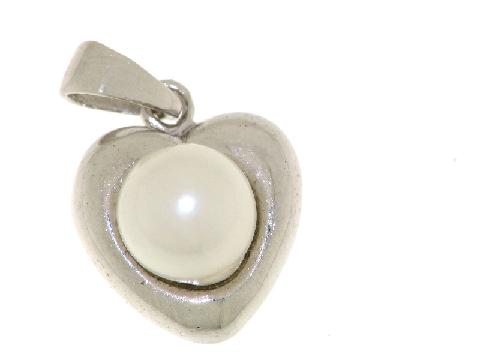Gioielli liaison d'amour Cuore con perla in oro bianco
